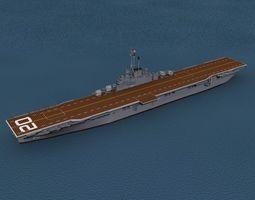 essex class aircraft carrier cv-20 uss bennington animated 3d