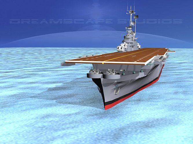 ticonderoga class carrier cv-15 uss randolph 3d model animated max 3ds lwo lw lws dxf stl 3dm 1