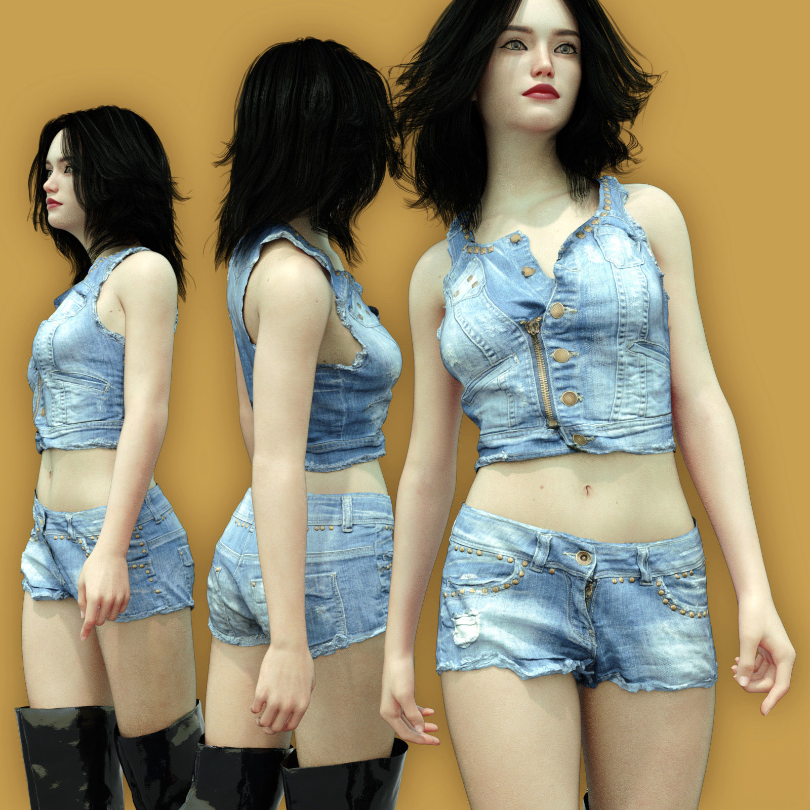 Summerwear Jeans Top and Short