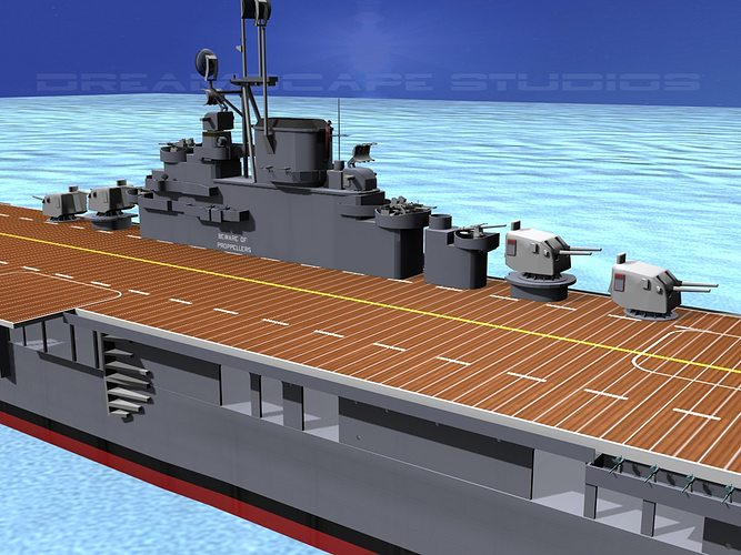 ticonderoga class carrier cv-19 uss hancock 3d model animated max obj 3ds lwo lw lws dxf stl 1