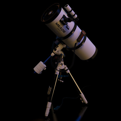 meade lxd75 schmidt-newtonian 10 telescope static version 3d model max 1