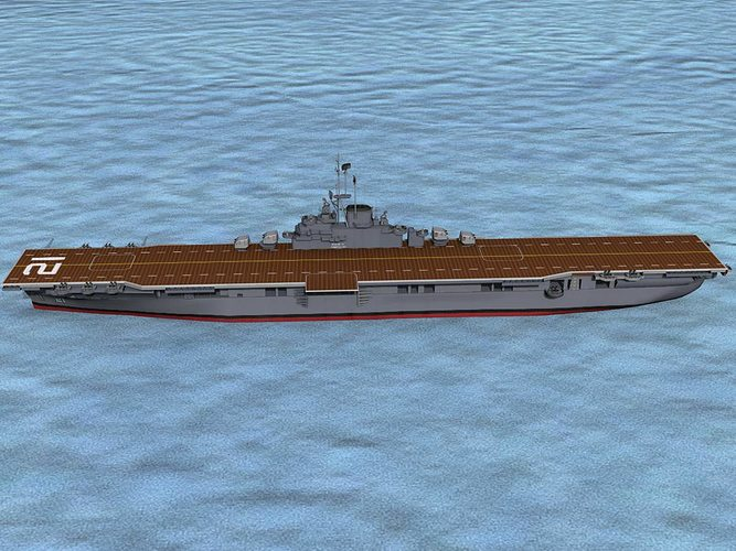 ticonderoga class carrier cv-21 uss boxer 3d model rigged animated max obj 3ds lwo lw lws dxf stl 1