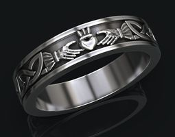 3D printable model Ring with a heart symbol of love