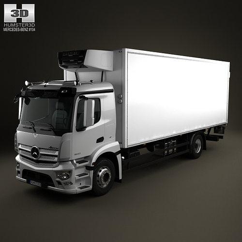 Mercedes Benz Antos Box Truck 2012 3d Cgtrader