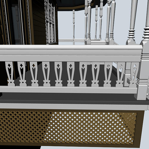 baluster 3d model max obj mtl fbx ma mb 1