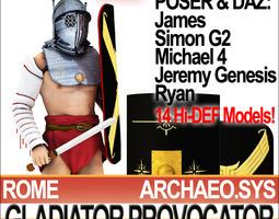 roman gladiator provocator props poser daz 3d model