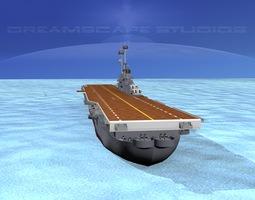 ticonderoga class carrier cv-32 uss leyte animated 3d