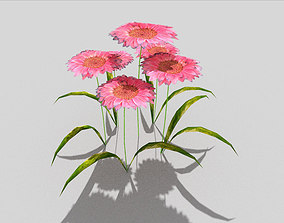 low poly flower 3D model VR / AR ready