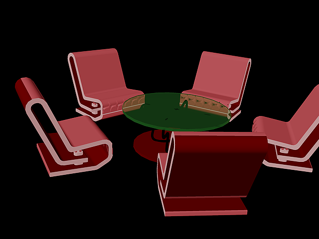 3d table and chair combination awesome for hotel restaurant a... 3d model dwg 1
