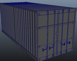 ISO Container 3D asset