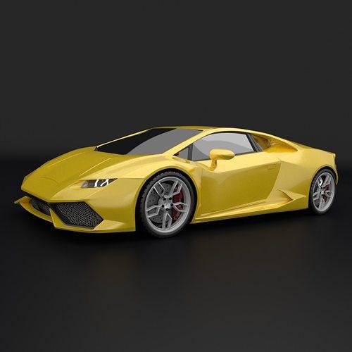 lamborghini huracan racing car restyled 3d model obj 3ds. Black Bedroom Furniture Sets. Home Design Ideas