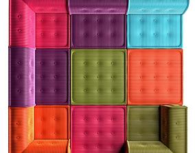 3D asset Modular Sofa Mahjong