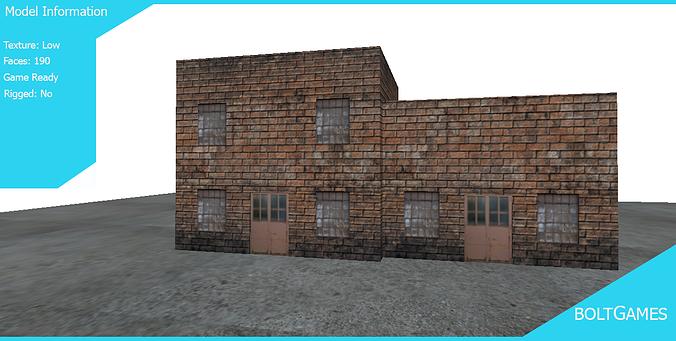 building for games 3d asset cgtrader. Black Bedroom Furniture Sets. Home Design Ideas