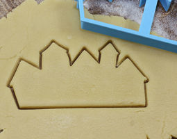 City cookie cutter for professional 3D printable model