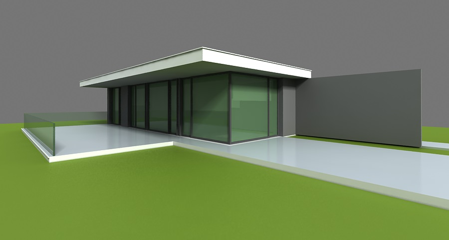 Modern home 3d 3d model max obj 3ds for Home 3d model
