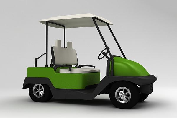 3d Golf Car Cgtrader
