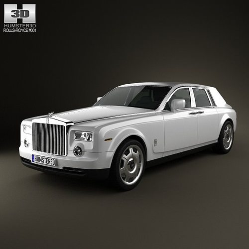 rolls-royce phantom 2011 3d model max obj 3ds fbx c4d lwo lw lws 1