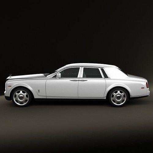 rolls-royce phantom 2011 3d model max obj 3ds fbx c4d lwo lw lws 3