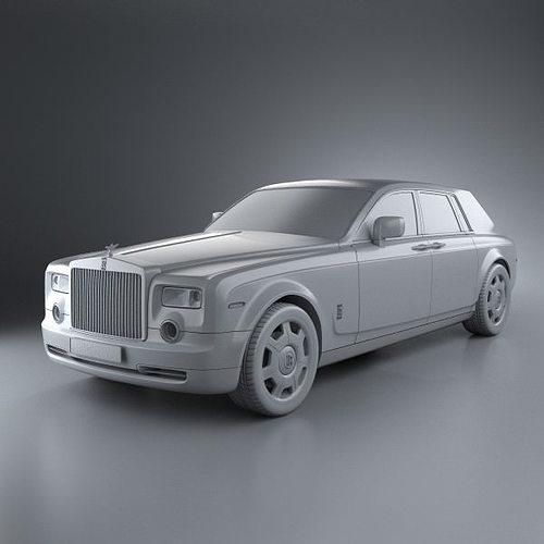 rolls-royce phantom 2011 3d model max obj 3ds fbx c4d lwo lw lws 6