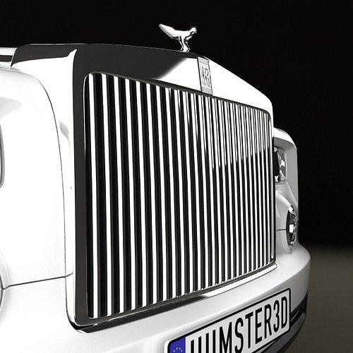 rolls-royce phantom 2011 3d model max obj 3ds fbx c4d lwo lw lws 10