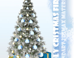 Decorated Christmas Tree 3D