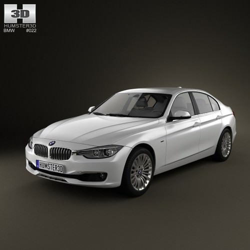 BMW 3 Series Sedan 2012 3D Model MAX OBJ 3DS FBX C4D LWO