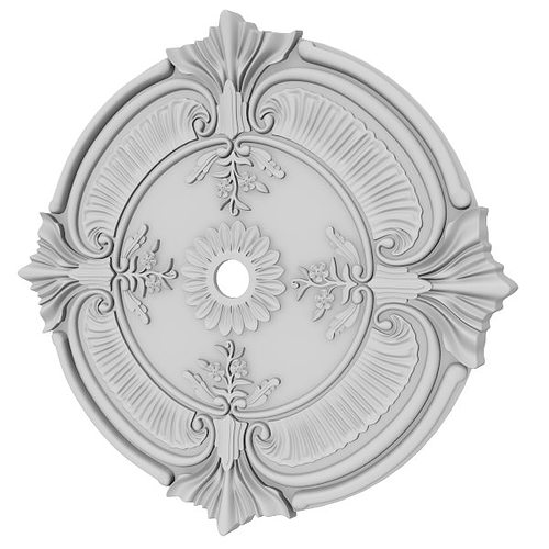 ceiling medallion 3d model max obj fbx ma mb 7 - Ceiling Medallion