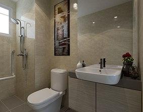 Bathroom 3D rigged vanity