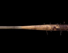 Nailed baseball bat 3D asset realtime