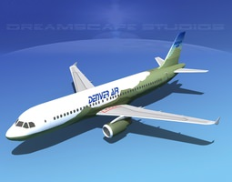 Airbus A320 LP Denver Air 3D model