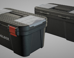 3d model toolbox animation ready rigged