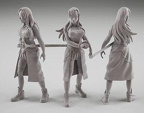 Asuna fanart from online sword art 3D print model