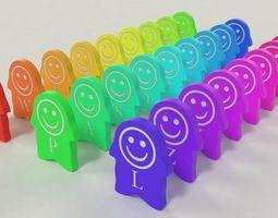 3D asset Alphabet Domino for Children