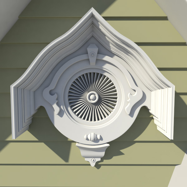 gable vent style 1 3d cgtrader
