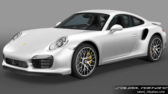 porsche 911 turbo s 2014 3d model max obj 2