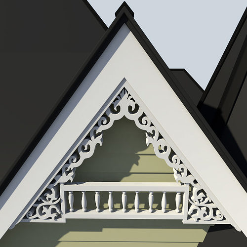 Gable Decoration 1 3d Model Cgtrader