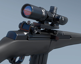 3D model M14 Sniper Rifle - High Poly