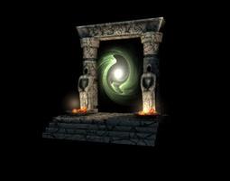 Ancient portal gate 3D Model