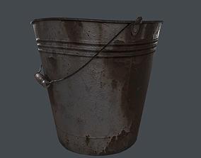 Rusty Old Bucket 3D asset