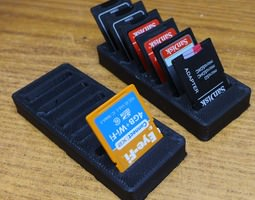 SD Card Rack 3D printable model