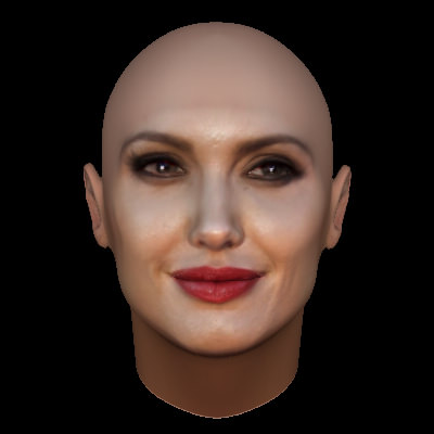 Angelina Jolie Face Model With Makeup