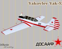 Yakovlev Yak-52 of 3D model