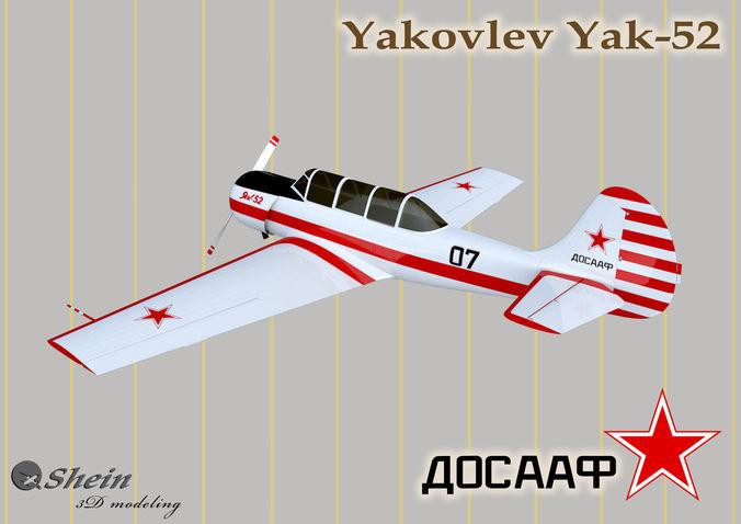 yakovlev yak-52  3d model max 1