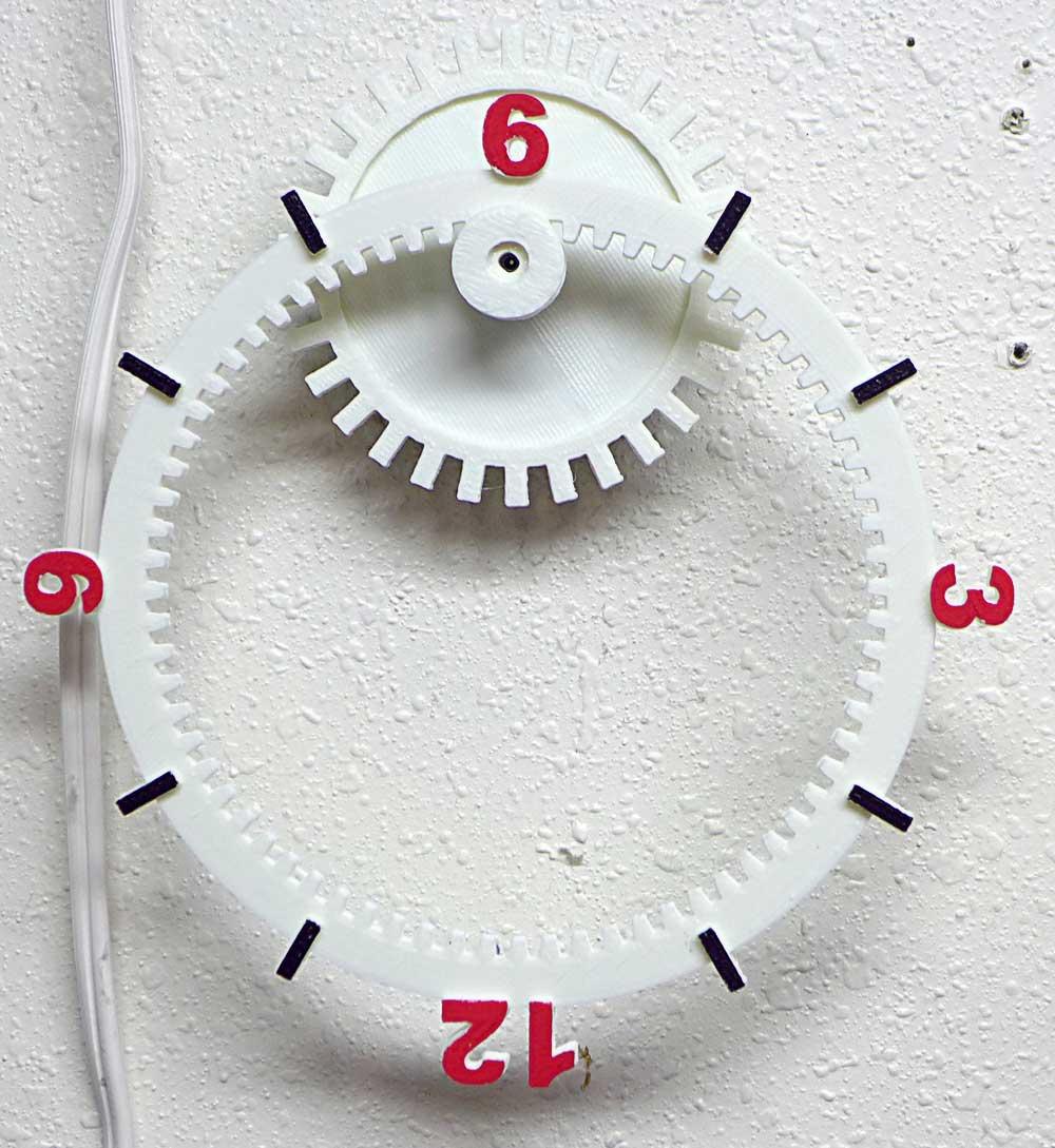 Floating Gear Clock 3D Model 3D Printable STL