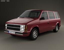 3D model Dodge Caravan 1984