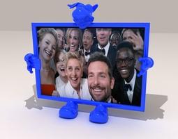 Selfie s Photo Frame 3D print model