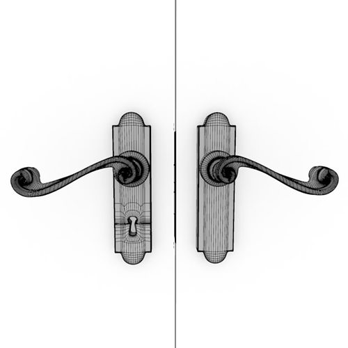 Incroyable Door Knob Hardware 3 3d Model Max Obj Fbx Ma Mb 14