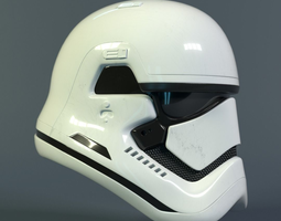Star Wars Stormtrooper helmet - First Order 3D asset