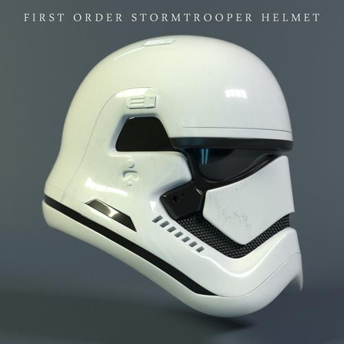 star wars stormtrooper helmet - first order 3d model max obj mtl fbx stl blend 1
