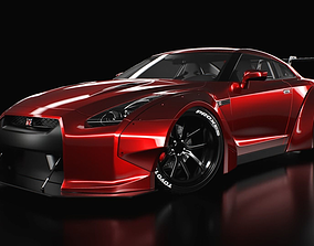 3D model nissan GT-R liberty walk